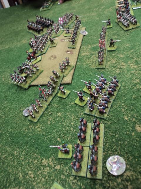 Dopo il successo iniziale la fanteria russa viene bloccata dalla reazione del nemico