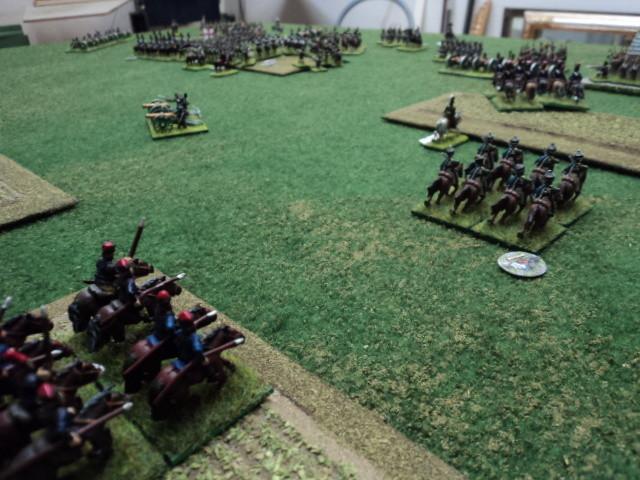 La cavalleria russa, al comando di Franco, non è riuscita ad entrare in battaglia