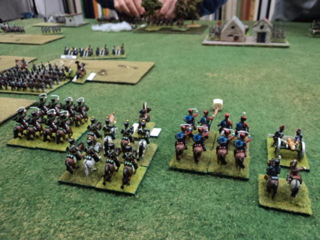 La Brigata di cavalleria leggera francese, al comando di Stefano, attende di essere impiegata in battaglia