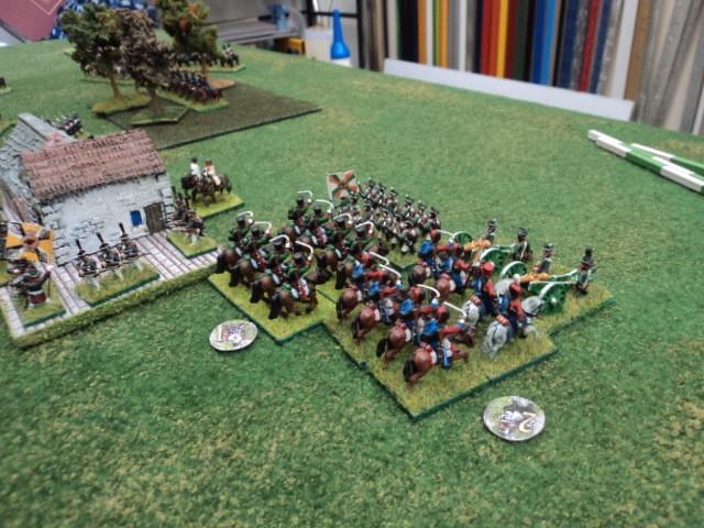 L'artiglieria russa respingerà la cavalleria nemica....