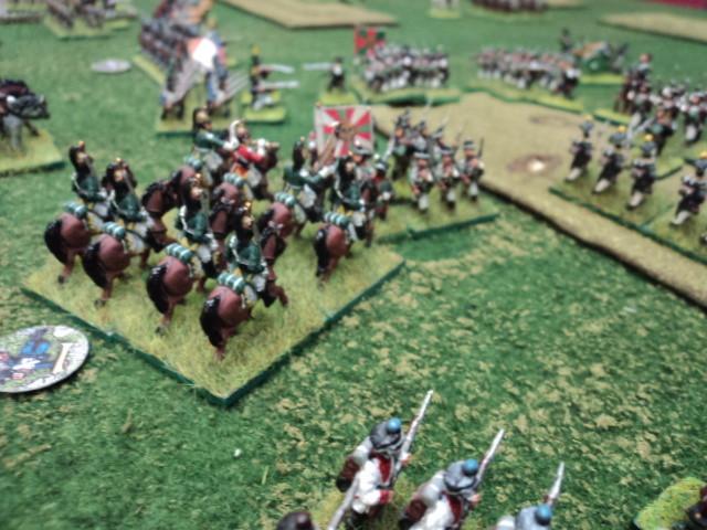 Stefano fa intervenire la cavalleria della riserva ma la fanteria russa riesce a formare i quadrati...