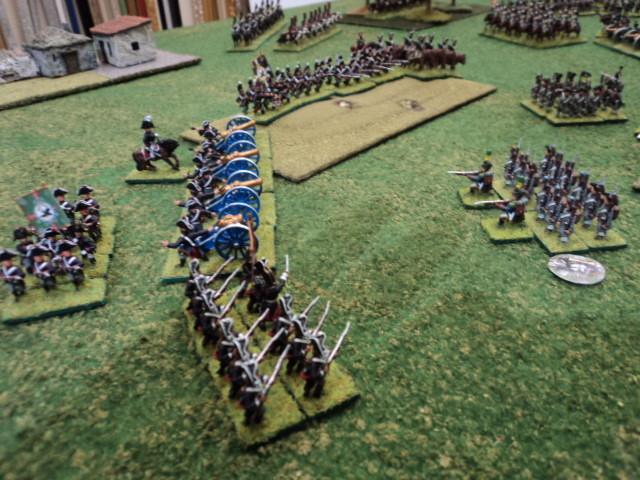 La Brigata di fanteria prussiana ha effettuato una manovra di avvolgimento sul fianco della Brigata Fausto. Quest'ultimo sarà costretto ad arretrare....