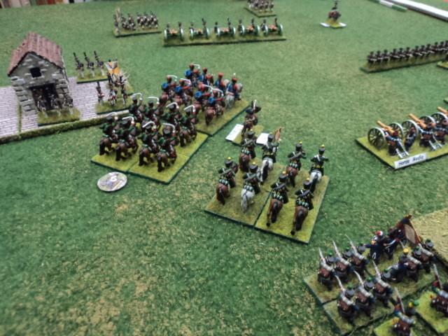 La cavalleria francese si dirige contro l'artiglieria russa...