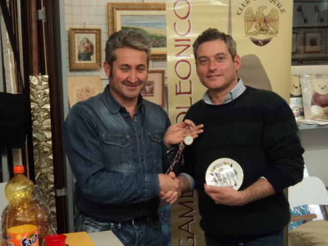 La consegna della medaglia al Veterano 2014 Stefano Plescia