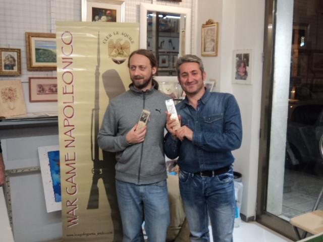 I vincitori del mini-torneo sperimentale: Silvio Scotti e Franco Iacca