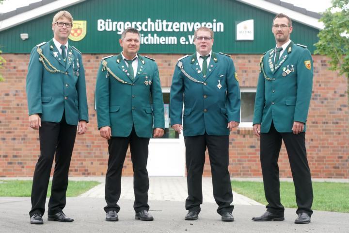 Festausschuss: Jan Ahuis, Vorsitzender Markus Krajewski, Günter Helweg, Martin Büter  (v.l.)