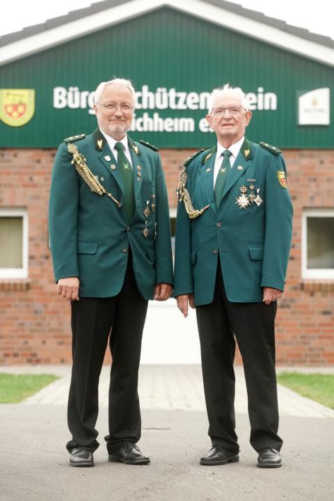 Ehrenpräsidenten Horst Bentje und Heinz Assen (v.r.)