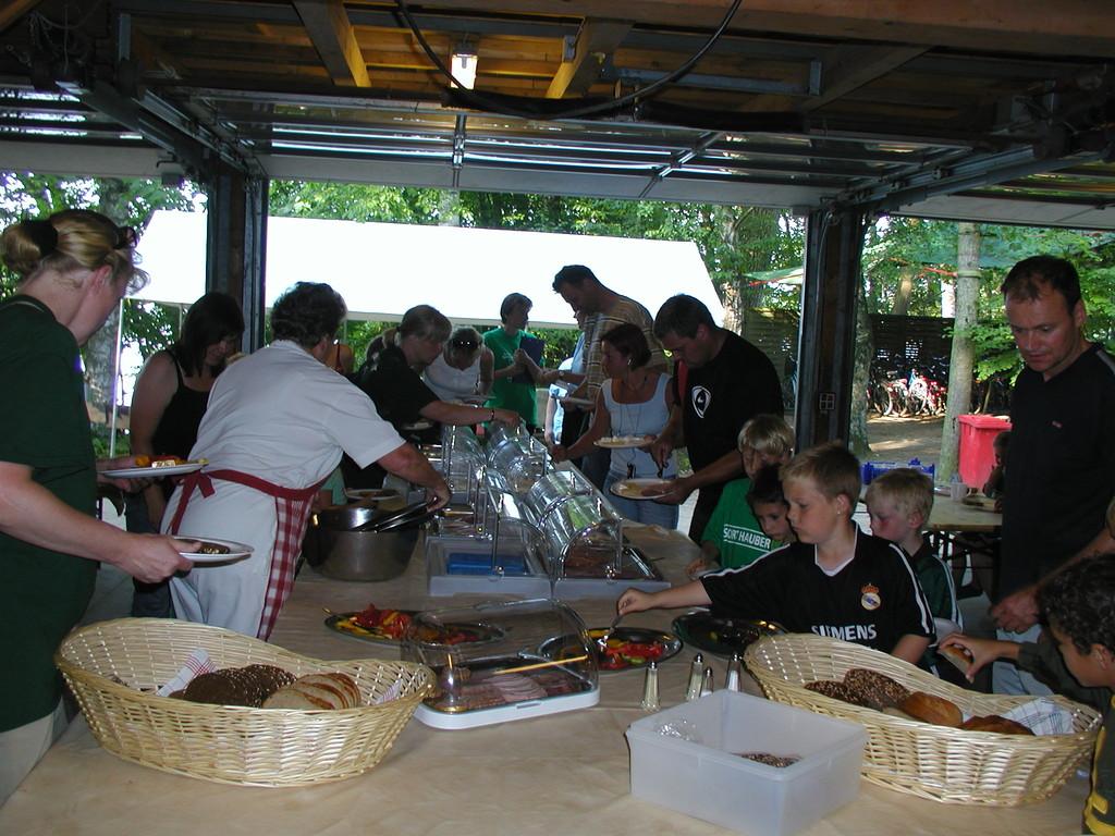Buffet im Essendach