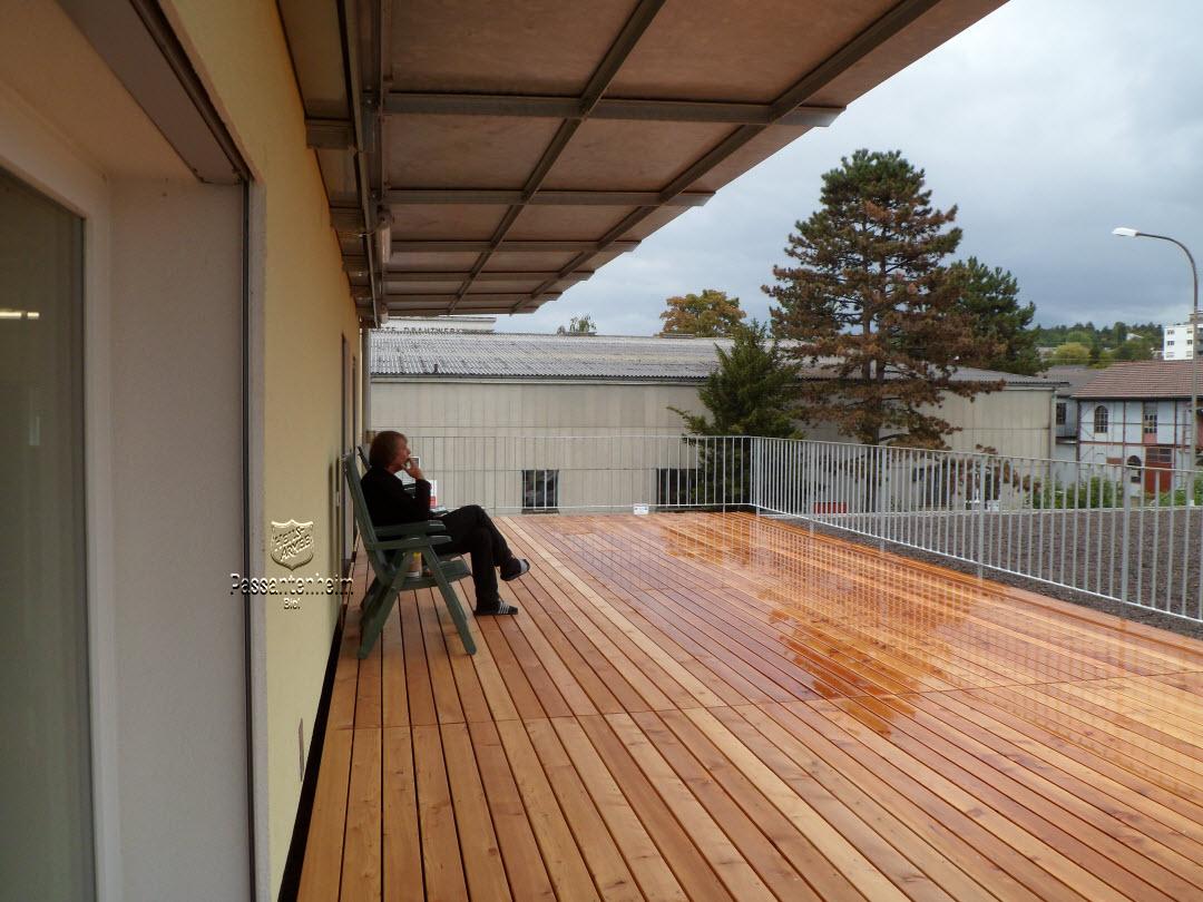 terrasse et pluie