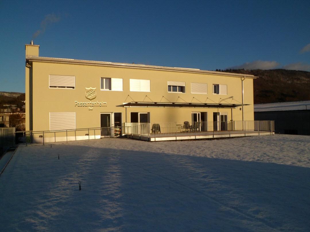 première neige sur notre terrasse