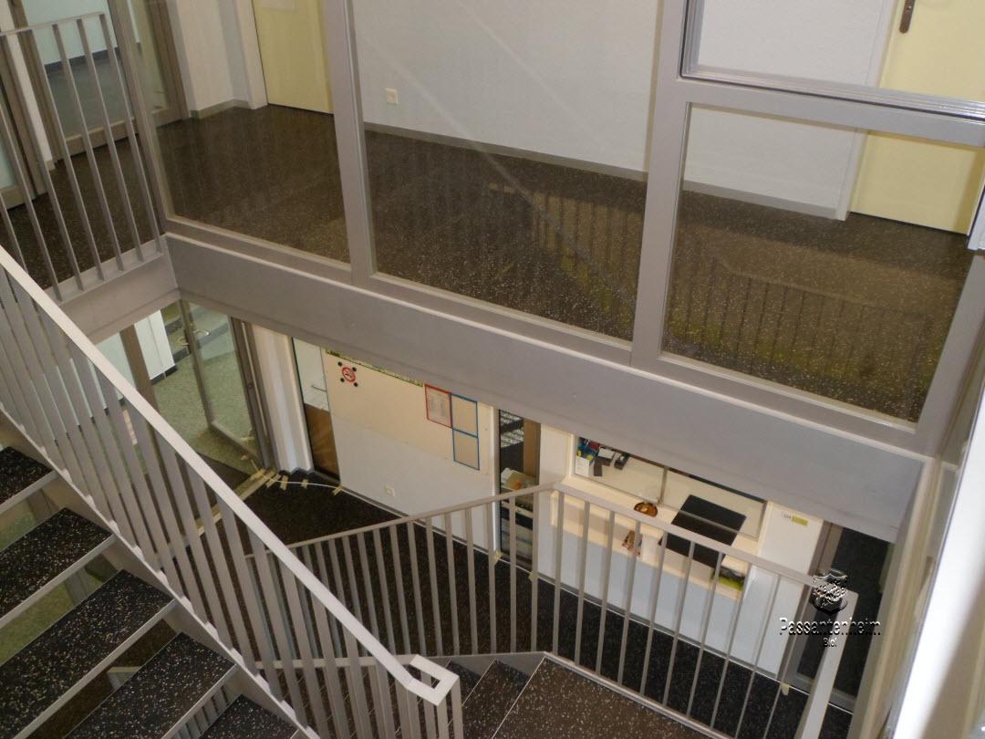 vue sur l'accueil depuis l'étage