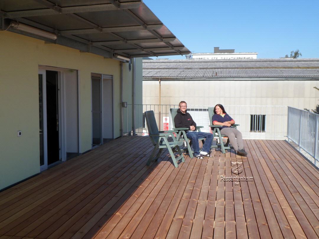 terrasse et soleil