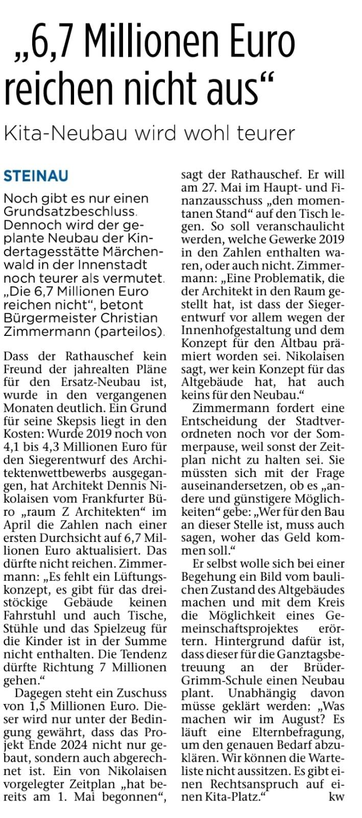 18.05.2021 - Bergwinkel Wochenbote