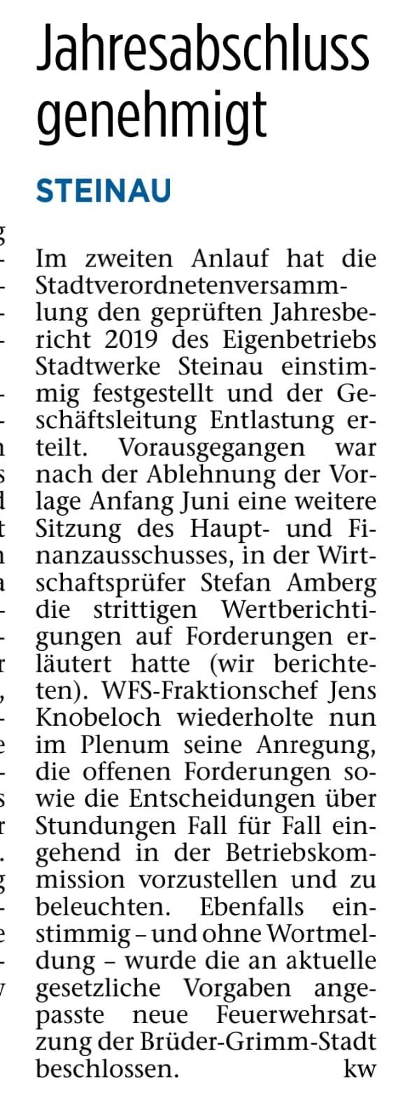 02.07.2021 - Bergwinkel Wochenbote