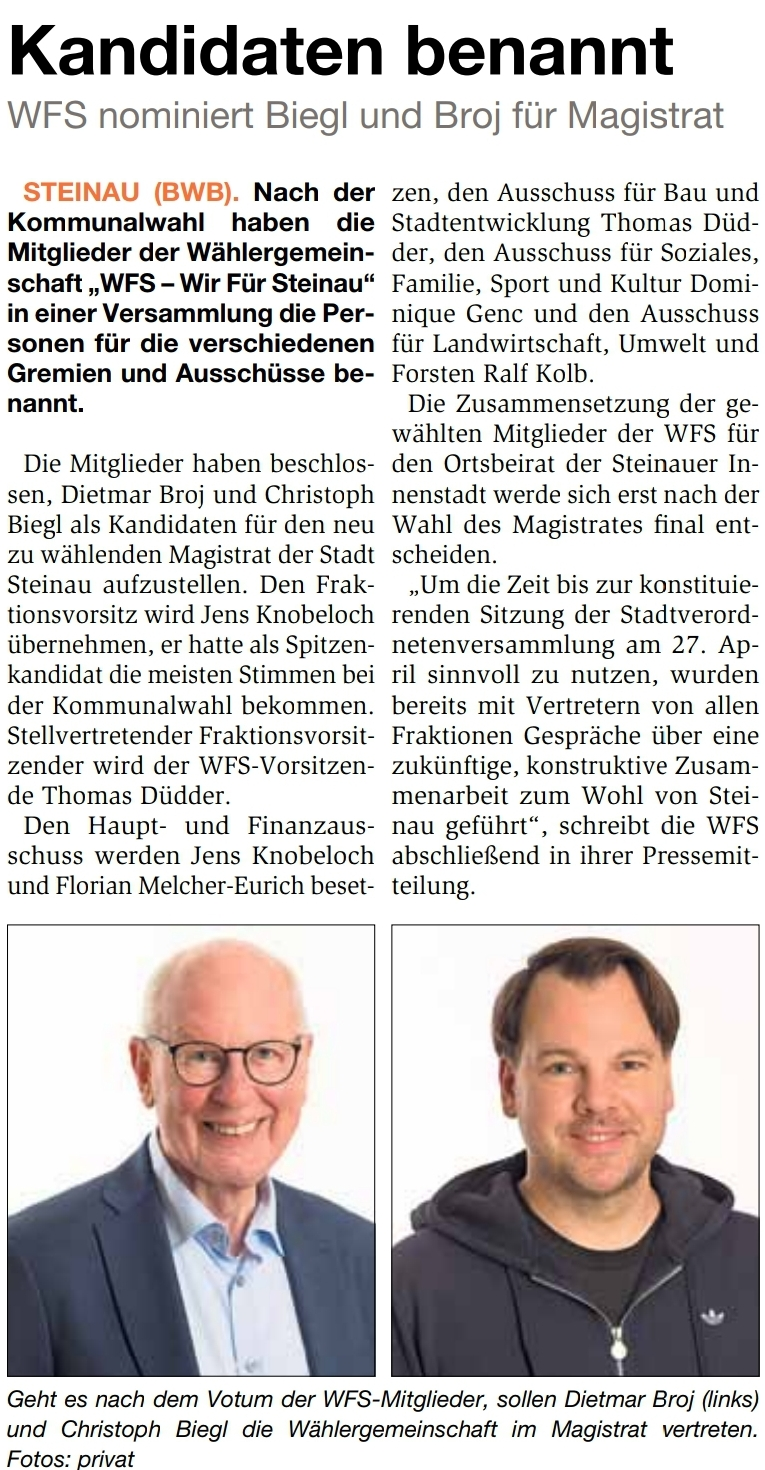 14.04.2021 - Bergwinkel Wochenbote