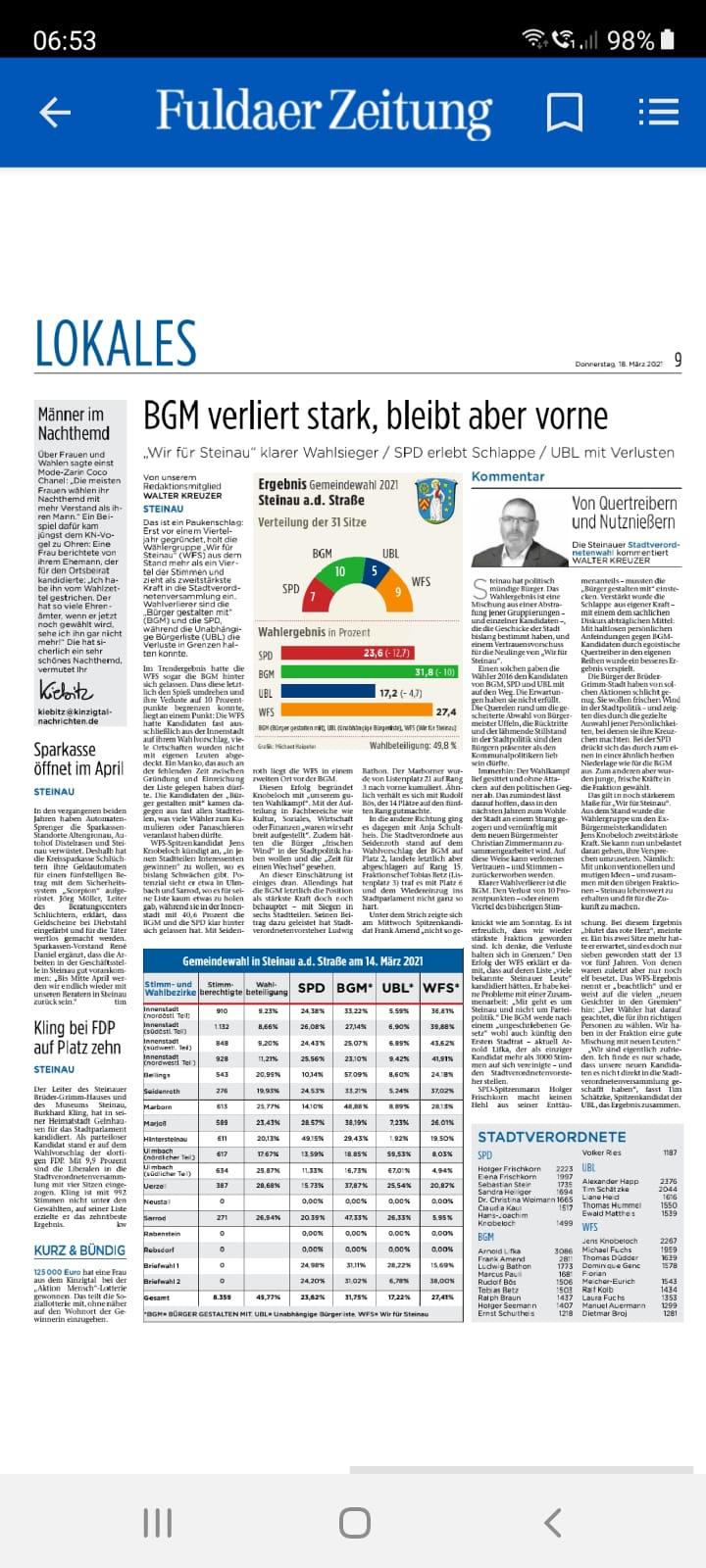 18.03.2021 - Fuldaer Zeitung