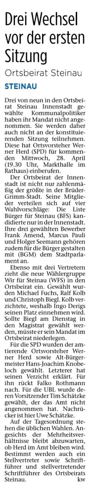 23.04.2021 - Bergwinkel Wochenbote