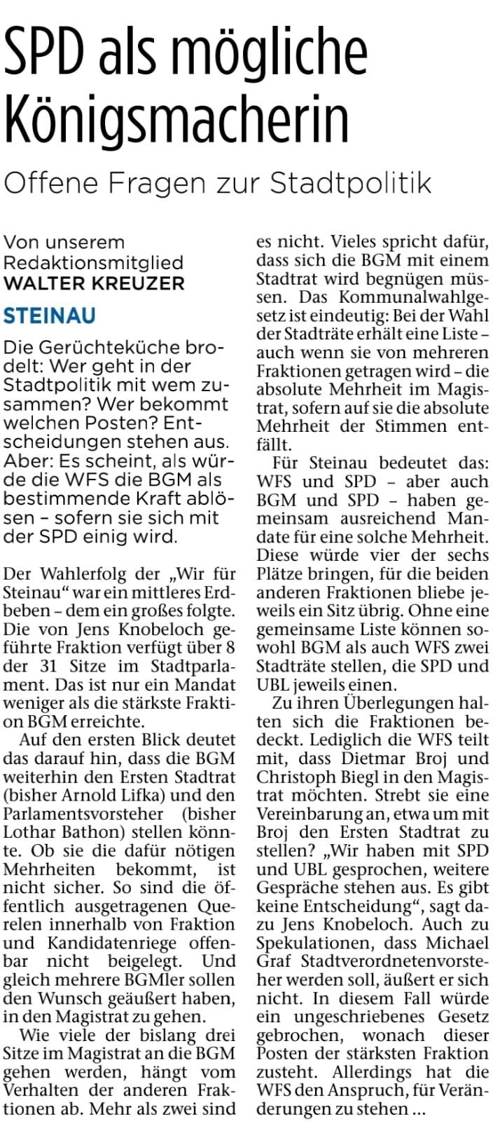10.04.2021 - Bergwinkel Wochenbote