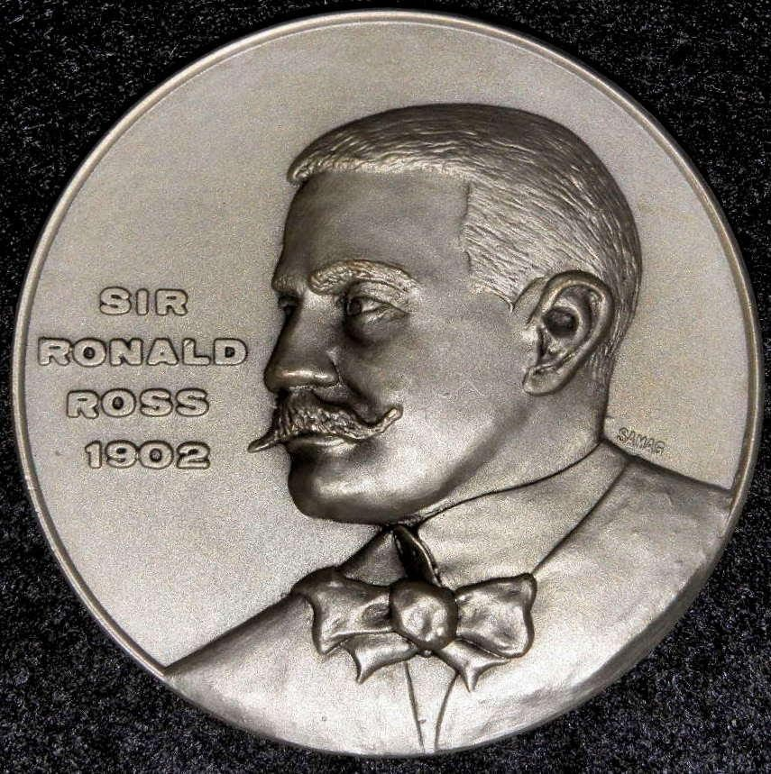 Frente Medalla RONALD ROSS, NOBEL 1902 - Malaria.