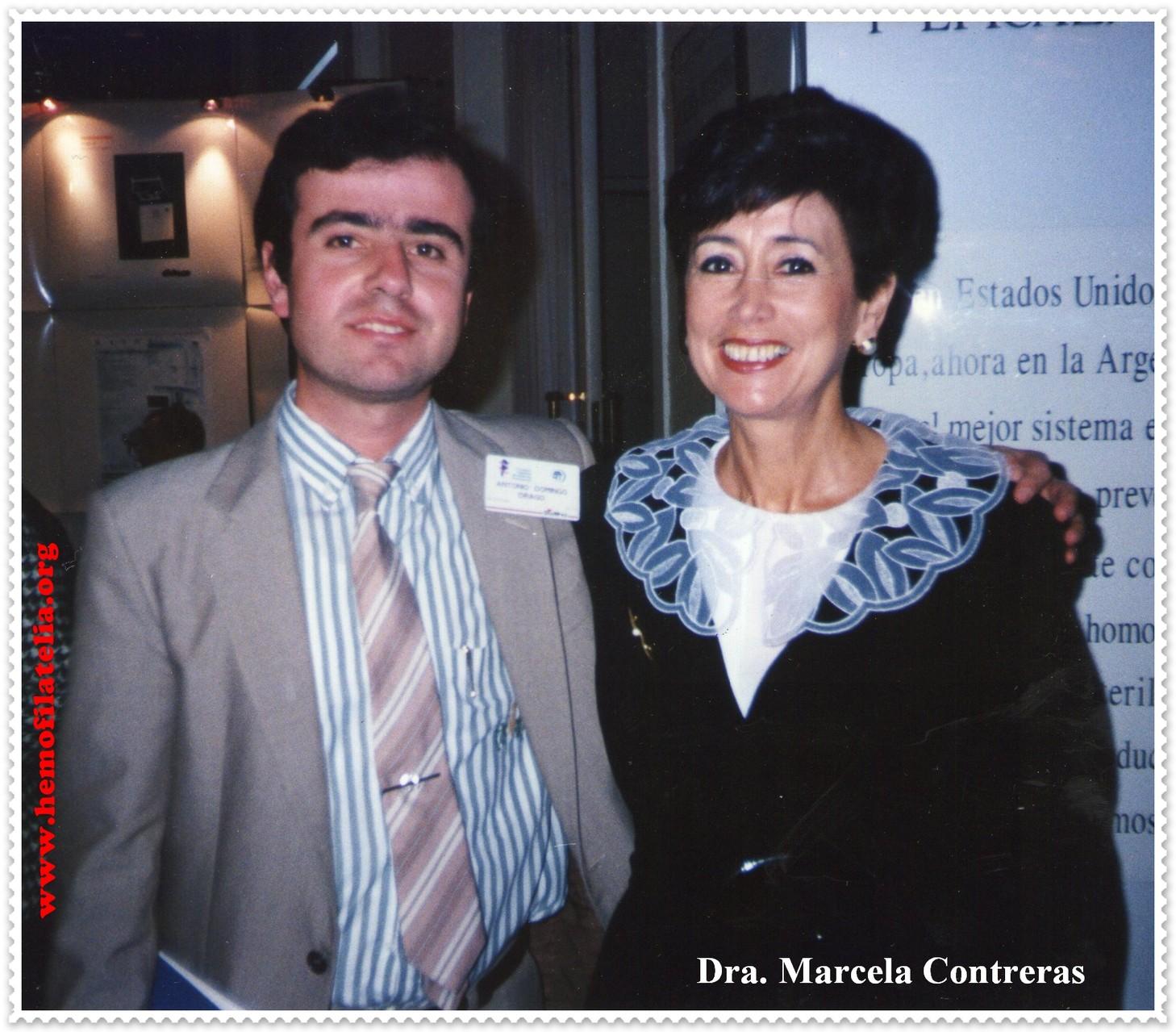 Con la Dra. Marcela Contreras.