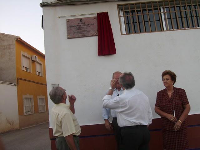 Inauguración de la Plaza de Donantes de Sangre de Linares y Torreblascopedro - España