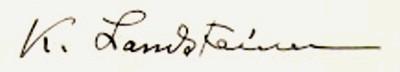 Firma de Karl Landsteiner