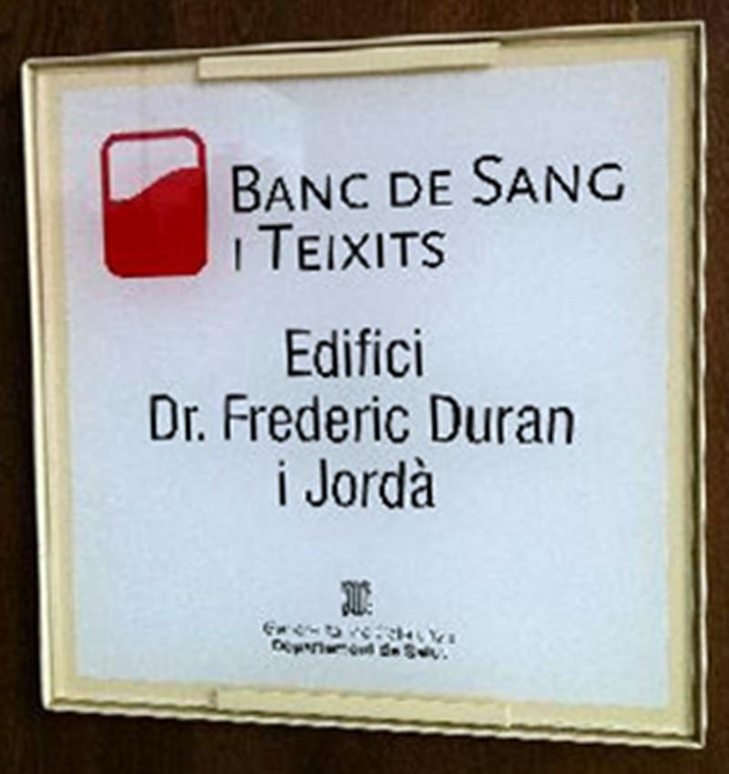 Banc De Sang I Teixits Edifici Dr. Frederic Duran I Jorda.