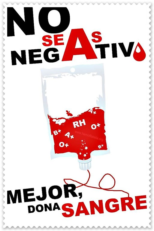 Do not be negative, rather, DONATE BLOOD!