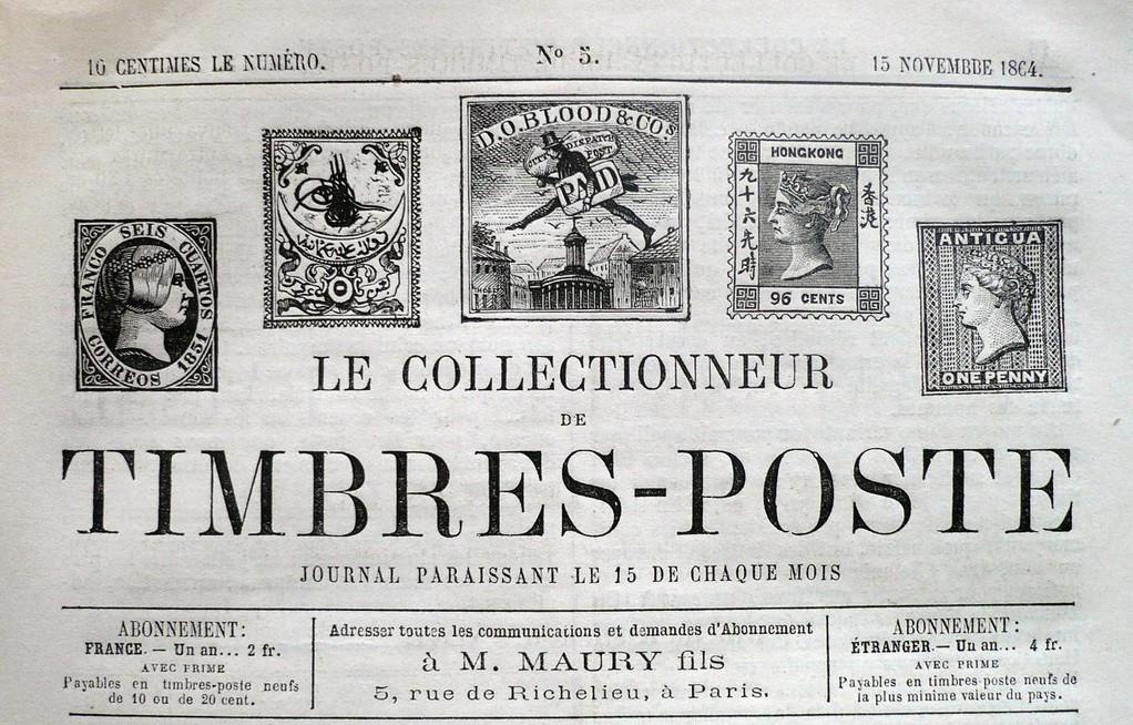 Tapa del Diario Francés donde se publico por primera vez el término Philatelie = Filatelia.