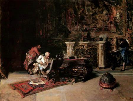 El Filatelista, de Mariano Fortuny (1838-1874), Óleo sobre lienzo de 66,5 x 92 cm. año 1866.