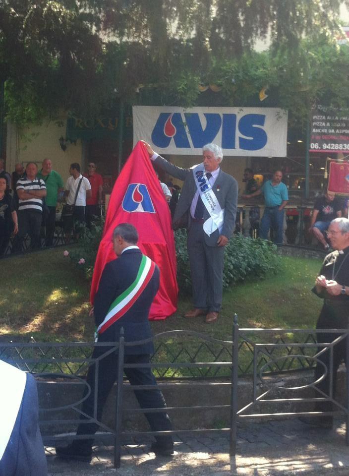 Avis Rocca di Papa: Inauguración del Monumento al Donante de Sangre.