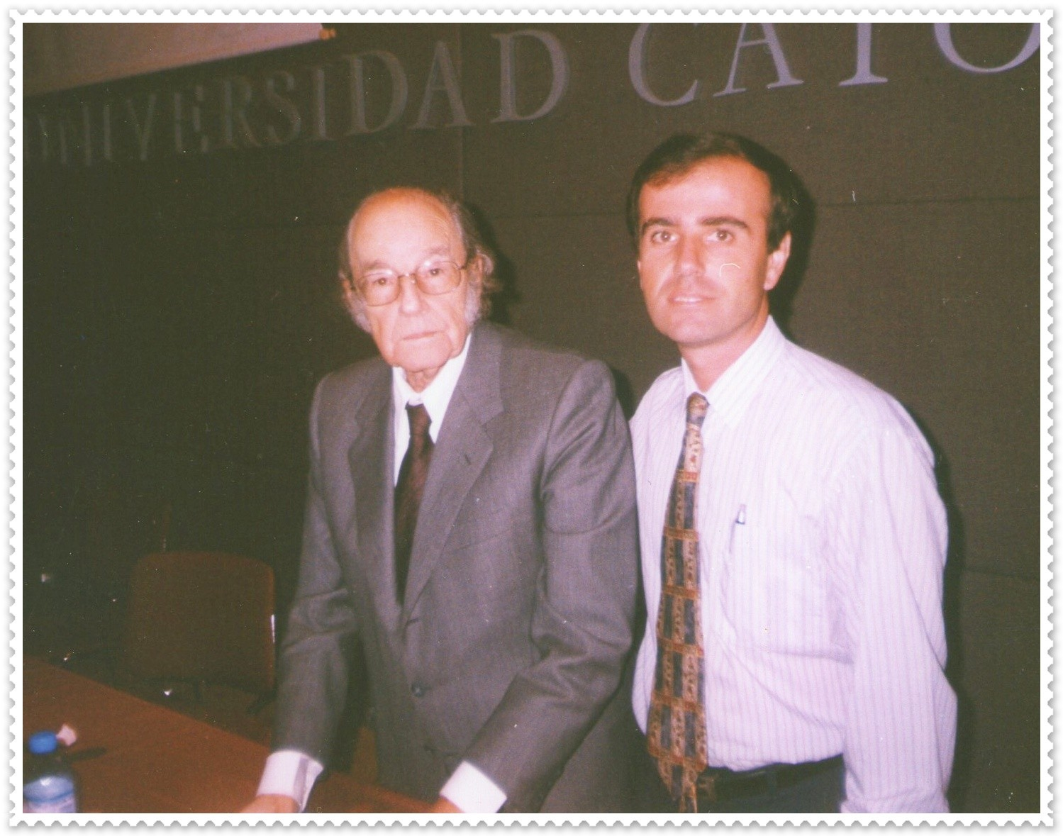 Con el Prof. Félix Luna, en la Universidad Católica Argentina.