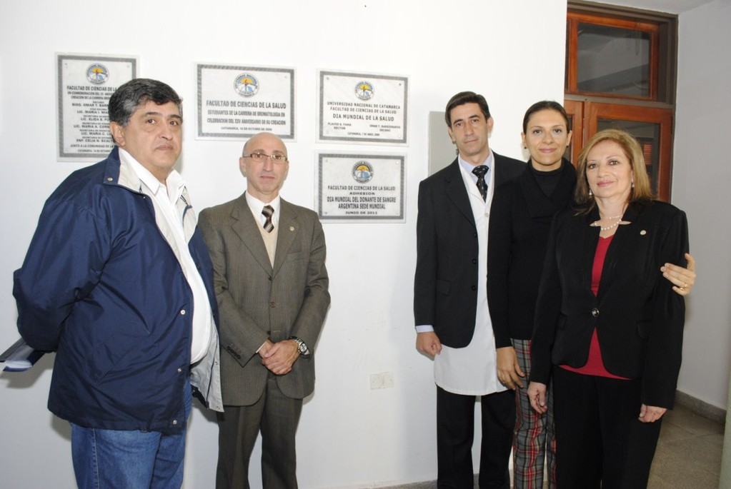 En la Facultad de Ciencias de la Salud de la Universidad Nacional de Catamarca tuvo lugar el acto protocolar en adhesión al Día Mundial del Donante de Sangre 2011.