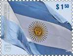 Bandera Nacional Argentina.