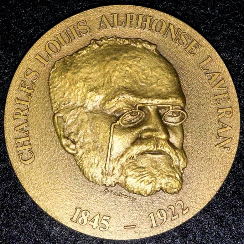 Frente Medalla CHARLES LOUIS ALPHONSE LAVERAN, NOBEL 1907 - Paludismo.