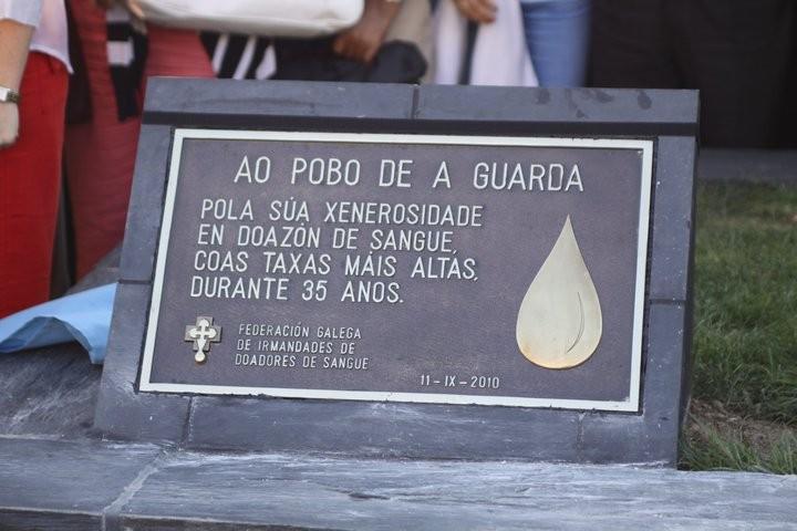 HOMENAJE AL PUEBLO DE LA GUARDIA POR SU GENEROSIDAD EN LA DONACIÓN DE SANGRE (11 de Septiembre del 2010).