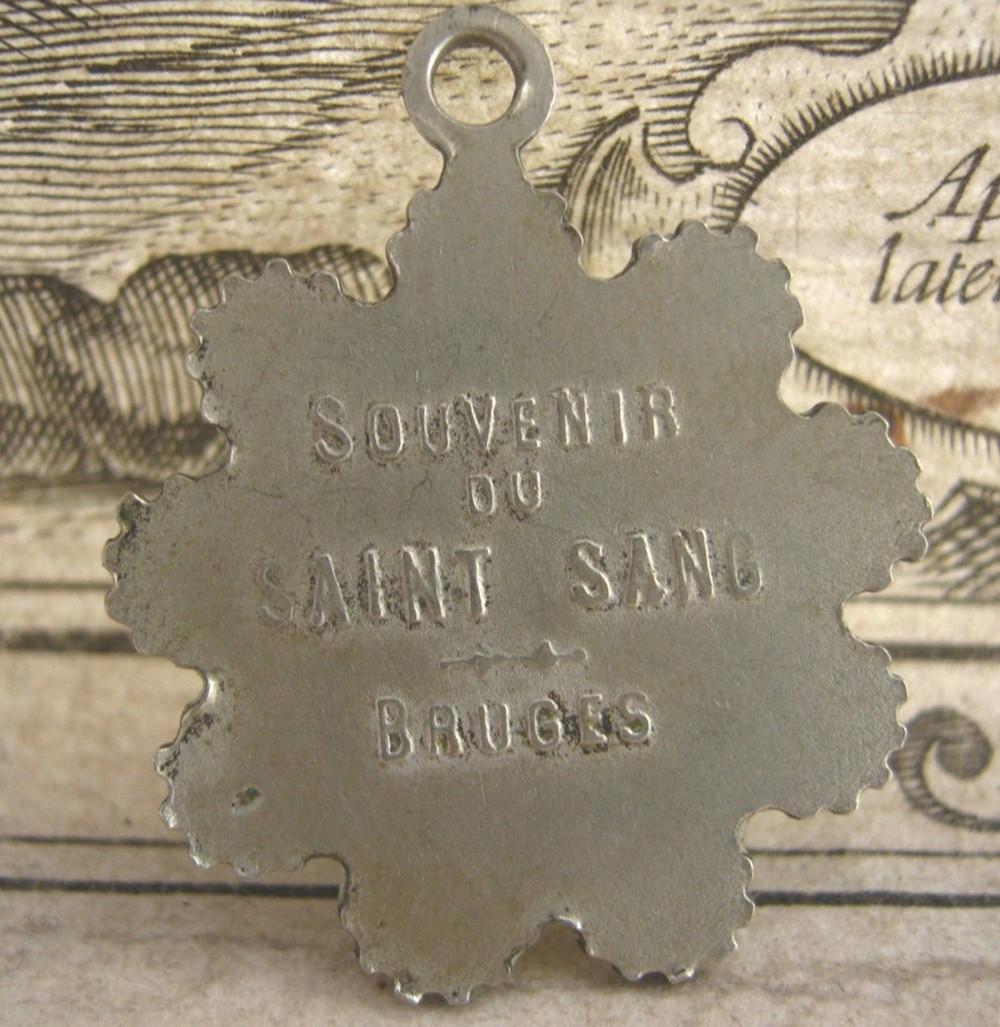 Dorso Medalla Colgante de la Santa Sangre de Anhée - Bélgica.