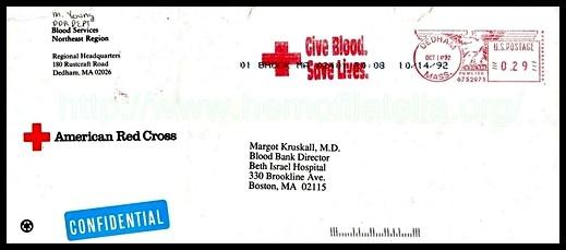 We thank Dr. Margot Kruskall, having sent this excellent piece of postal correspondence to CRIHeFi, November 1992.