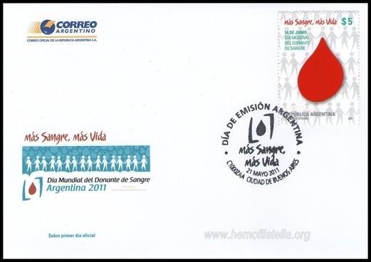 1er. Aniversario sello postal DMDS Argentina 2011-2012.