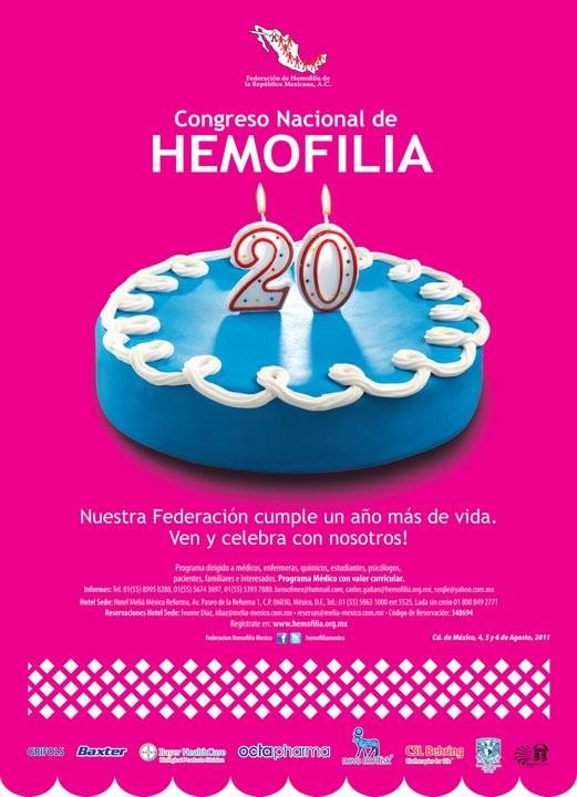 XIX Congreso Nacional de Hemofilia: a realizarse en la ciudad de México del 4 al 6 de Agosto de 2011.