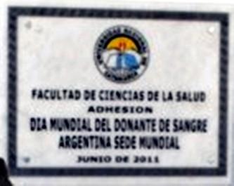Placa inaugurada en la Universidad de Catamarca - Argentina