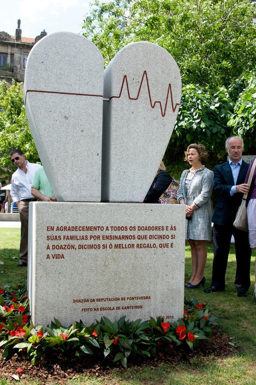 Monumento a los Donantes y sus Familias, España - Pontevedra.