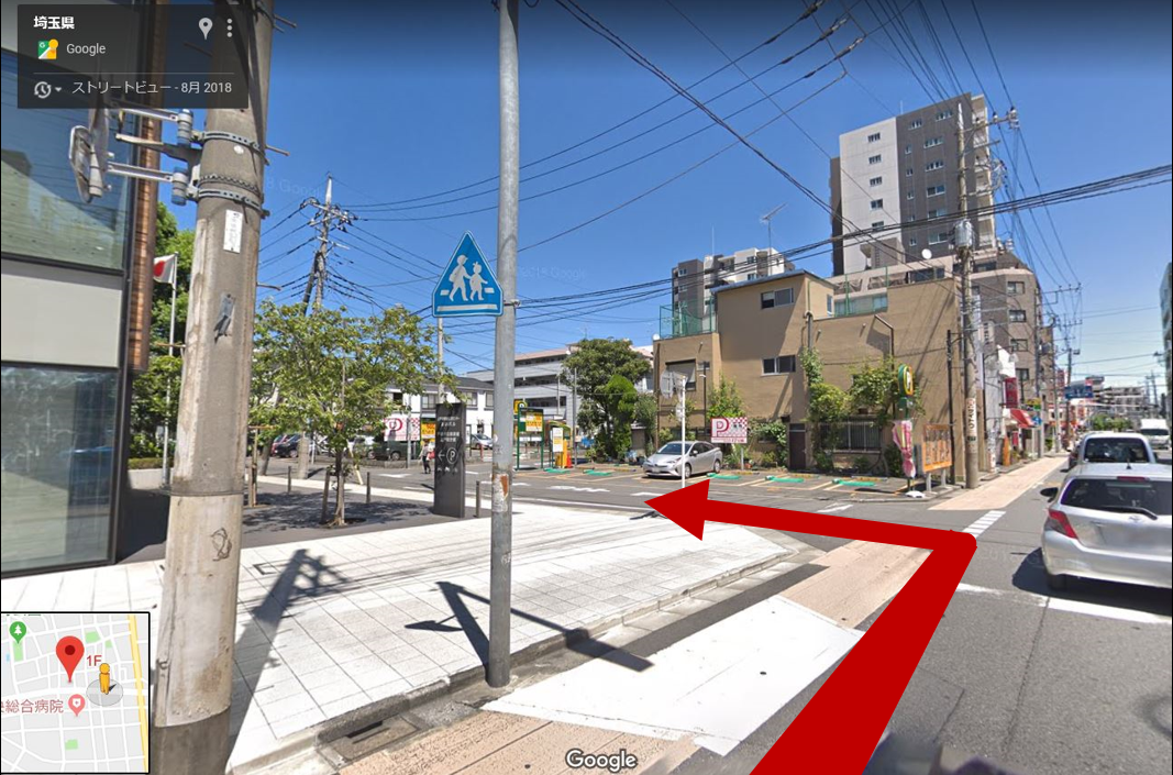 交差点を左折(信号機はありませんのでご注意ください)