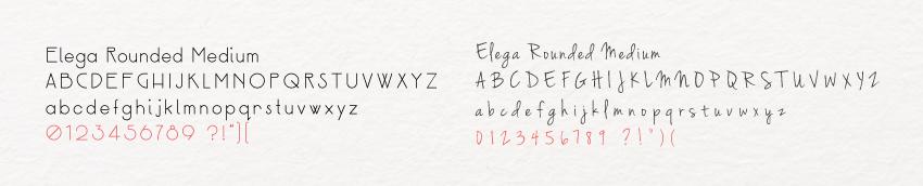 les deux typographies de la charte graphique