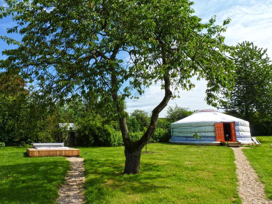 Jardin privatif pour les 2 yourtes