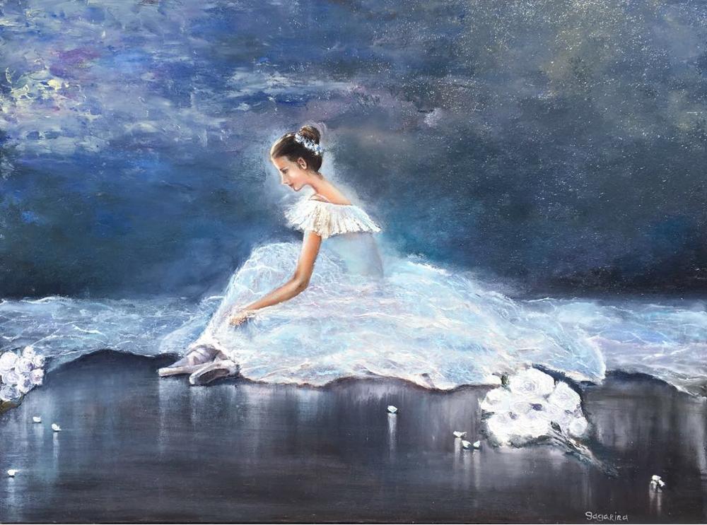 Ballerine I - 2017 Huile sur toile 60 x 80 cm