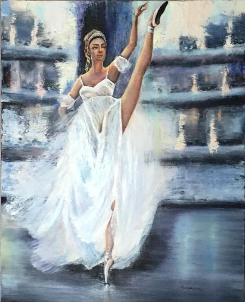 Ballerine IV - 2018 Huile sur toile 60 x 80 cm