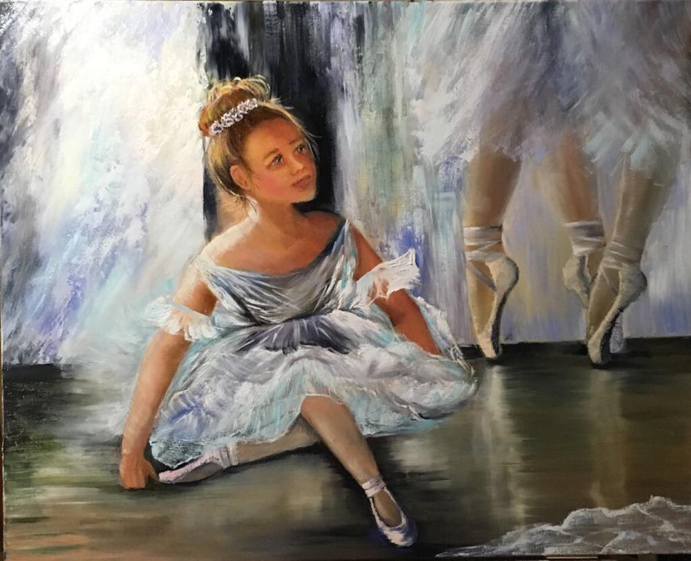 Ballerine III - 2017 Huile sur toile 60 x 80 cm