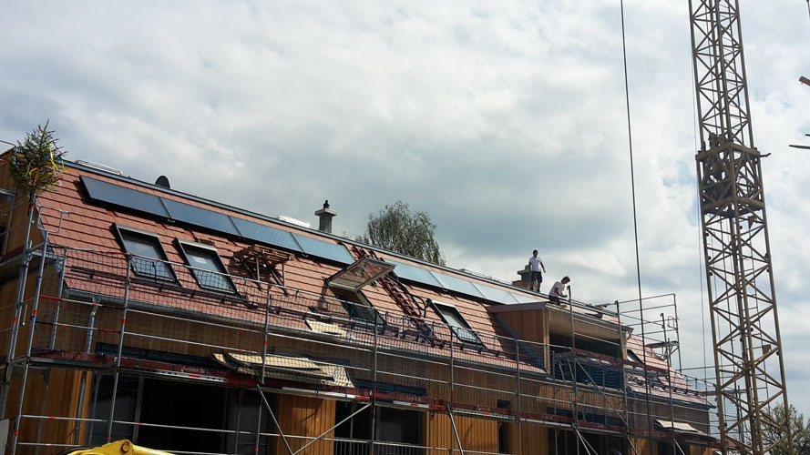 Solaranlage zur Heizungsunterstützung