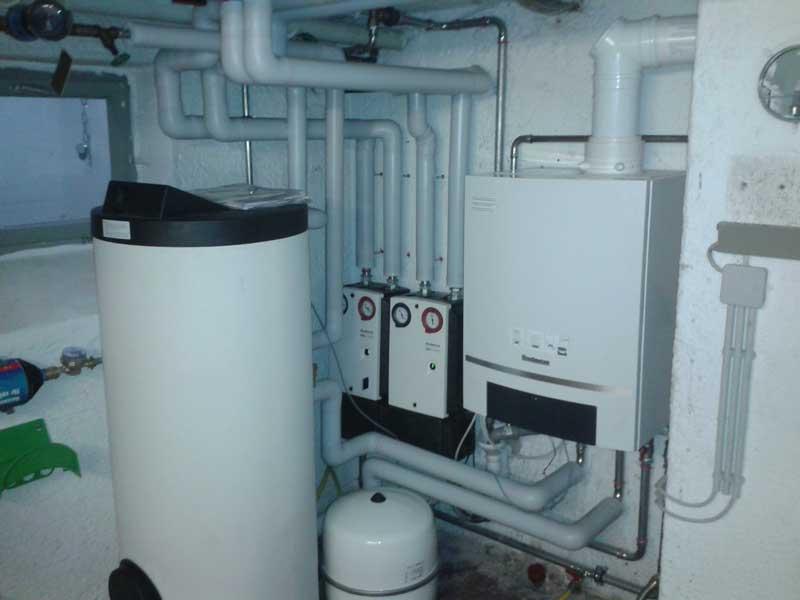 Sanierung einer Heizzentrale Gasbrennwert